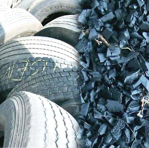 Waste rubber