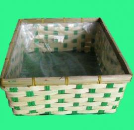 Square bamboo mini basket